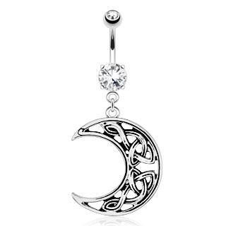 boutique bijoux piercings piercing nombril lune celtique. Black Bedroom Furniture Sets. Home Design Ideas