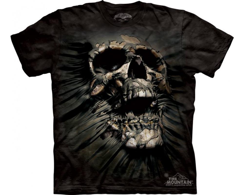 Tee Shirt Crane Tee Shirt Squelette Dark Fantasy