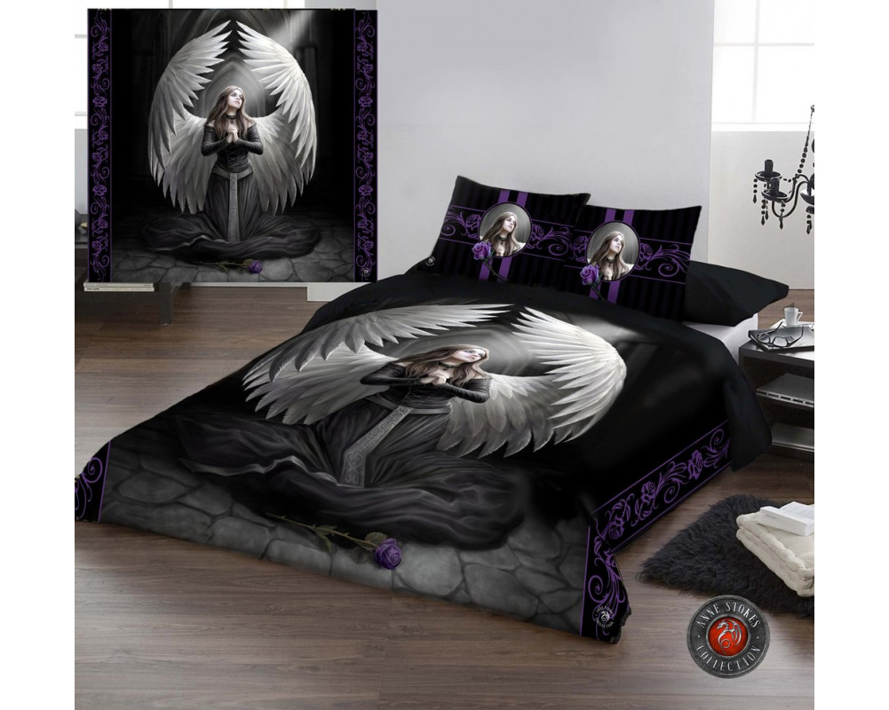 prayer for the fallen housse couette ange gothique anne stokes. Black Bedroom Furniture Sets. Home Design Ideas