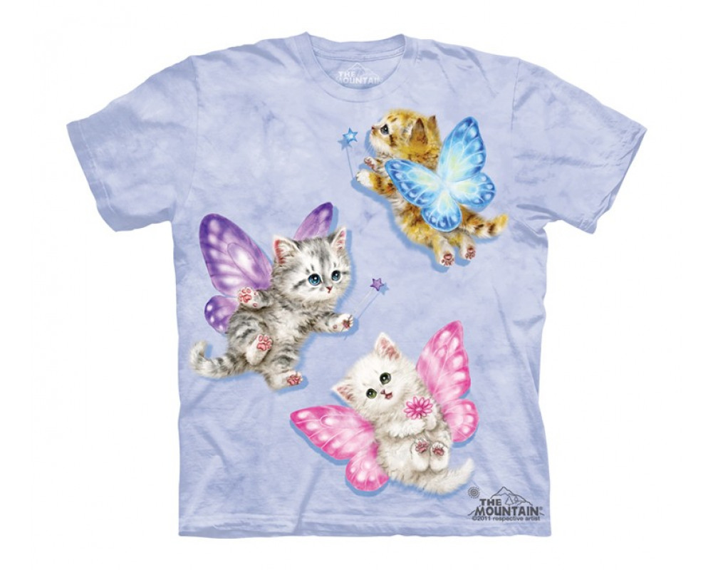 butterfly kitten t shirt fille chatons the mountain. Black Bedroom Furniture Sets. Home Design Ideas