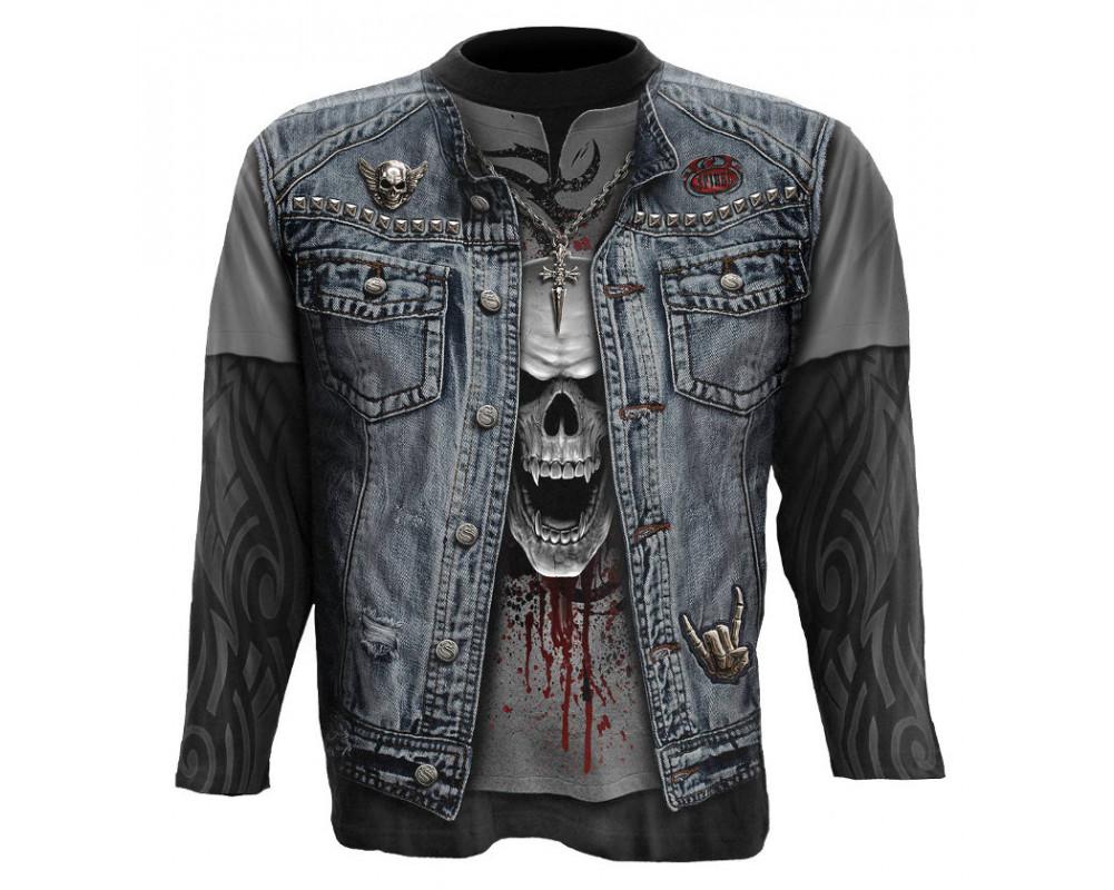 trash metal tee shirt homme rock spiral manches. Black Bedroom Furniture Sets. Home Design Ideas