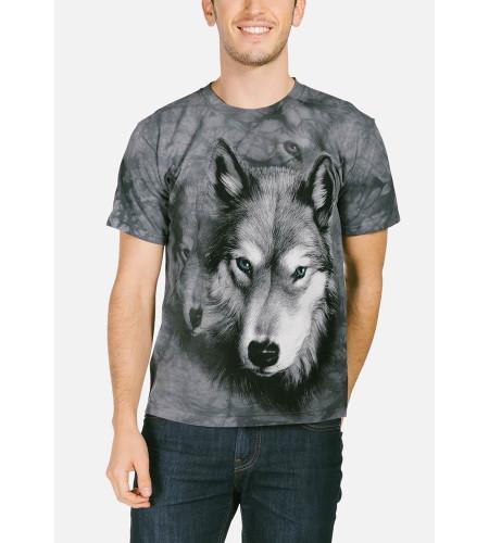 Loup Portrait T-shirt - The Mountain