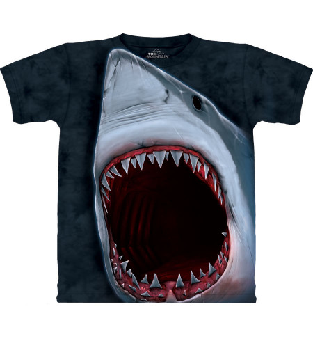 tee shirt the mountain grand requin blanc