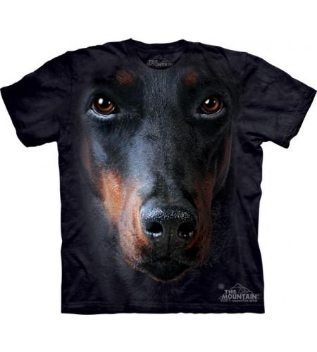 t-shirt tete de doberman