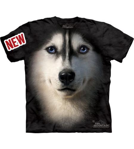 t-shirt chien husky