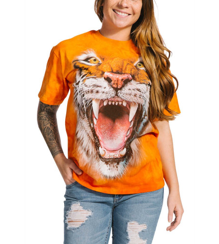 Roaring tiger face - T-shirt tigre rugissant - The Mountain