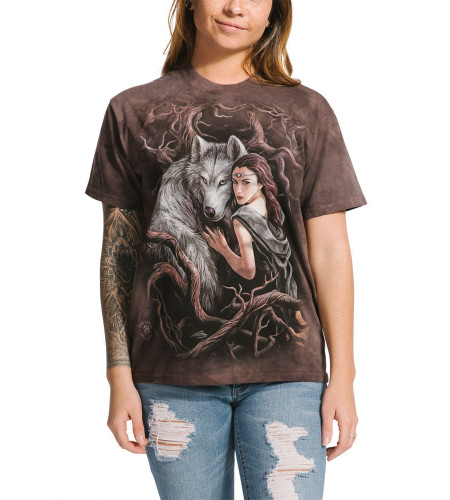 Soul bond - T-shirt loup fantasy - The Mountain - Anne Stokes