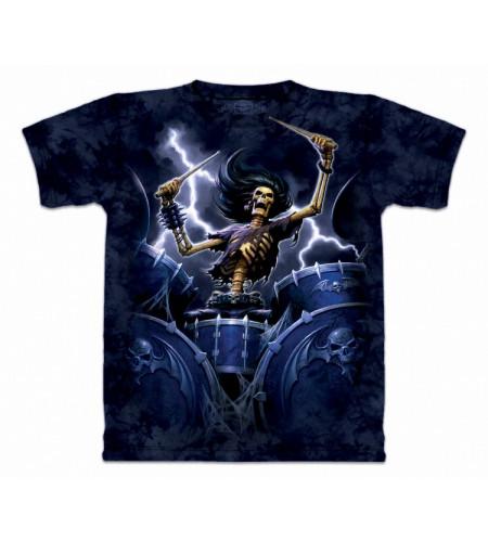 Death drummer :  Tee shirt squelette batteur rock heavy metal