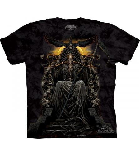 Death throne - T-shirt gothique squelette - Skulbone