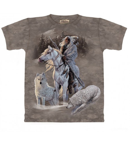 Compagnions T-shirt indien et loup - The Mountain