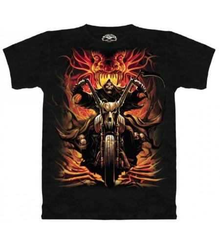 Grim raider T-shirt squelette moto - Skulbone