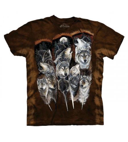 Wolf fearher - Tee-shirt motif imprimé loup the mountain
