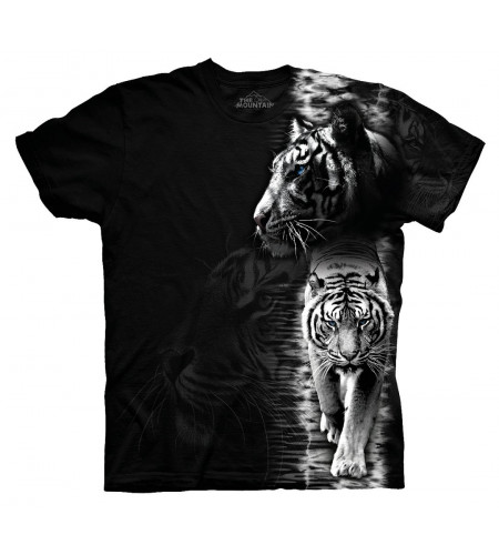 White tiger stripe T-shirt tigre - The Mountain