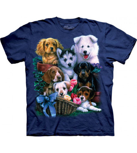 Puppy collage - T-shirt enfant chiots - The Mountain