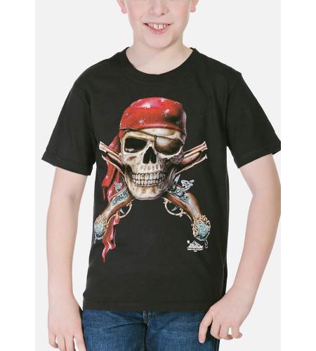 boutique vente tee shirt motif pirate pour enfant marque the mountain