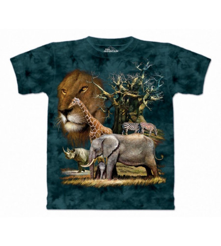 Africa collage - T-shirt enfant animaux savane - The Mountain