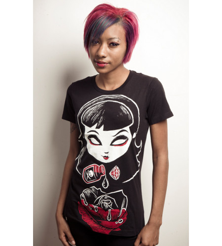 Deadly rose - T-shirt femme gothic - Akumu Ink