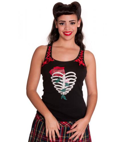 Ribcage - Débardeur femme gothique - Hell Bunny