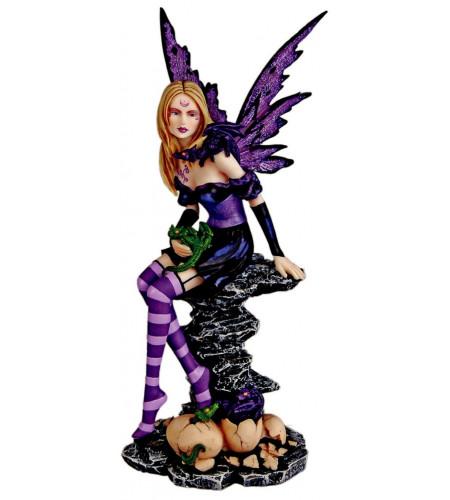 Amethyst - Figurine fée - Déco féerique