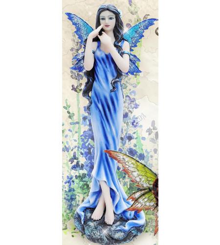 Figurine fée bleue - Flower fairy (25x9cm)