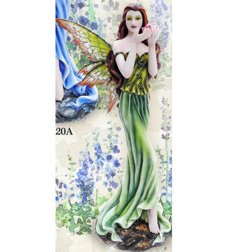 Figurine fée verte et jaune Flower fairy (25x9cm)