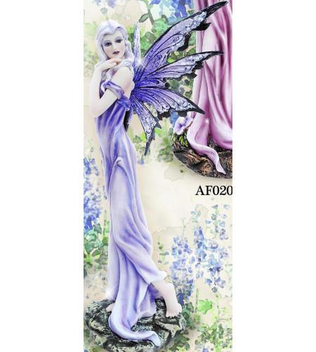 Figurine fée robe mauve Flower fairy (25x9cm)