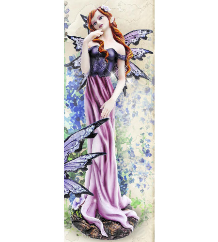 Figurine fée robe violette Flower fairy (25x9cm)