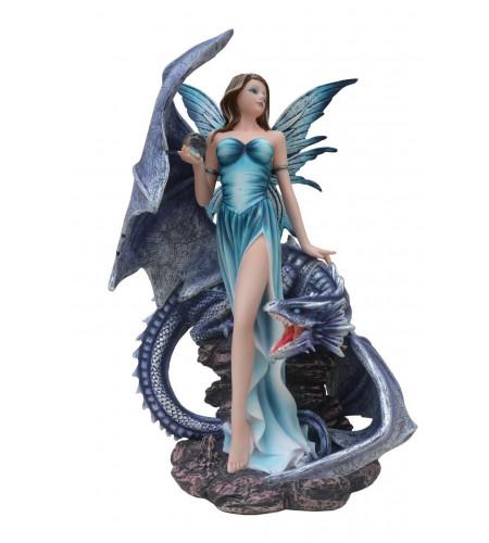 Boutique vente figurine fée avec dragon grand format