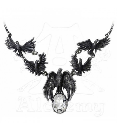 collier femme gothique Murder of crows