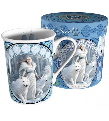 Winter guardian - Mug fantasy et loups - Tasse Anne Stokes