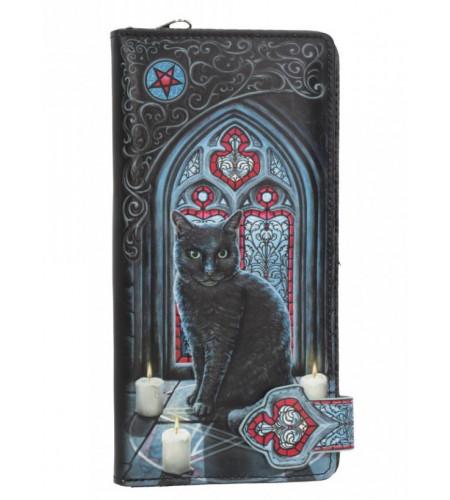 Boutique vente portefeuille motif chat noir magasin lisa parker fantasy