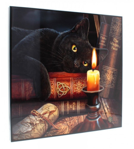 boutique déco chat lisa parker witching hour crystal clear picture grand format 40x40cm