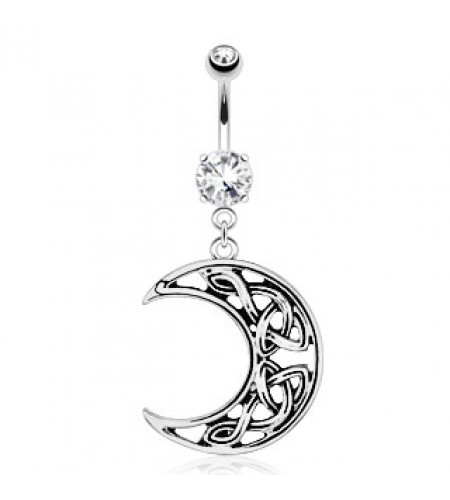 Piercing nombril - Bijou - Demi lune celtique