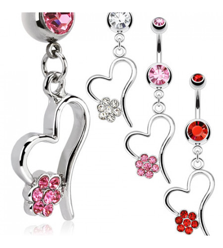 boutique en ligne vente piercings nombril forme coeur