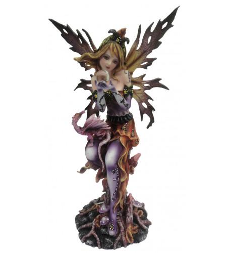 boutique vente statuette fée et dragon