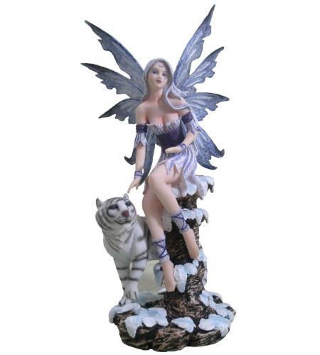 boutique figurines fée et animaux tigre blanc