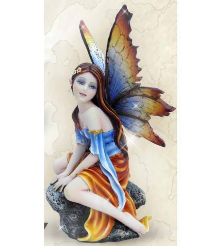 Fée rêveuse et songeuse - Figurine féerique (15x13cm)
