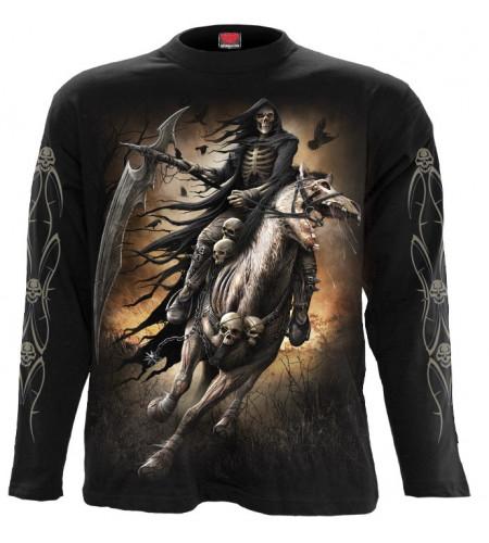 boutique dark fantasy gothic en ligne vente tee shirt pour homme motif reaper squelette manches longues