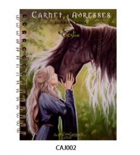 carnet adresse papeterie chevaux et licornes