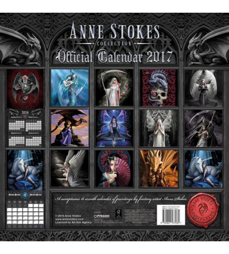 Anne Stokes - Calendrier 2017 - Fée Elfe Dragon Fantasy Gothic