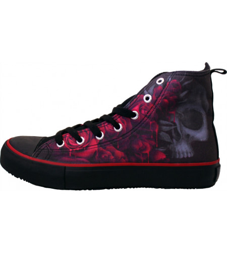 Blood rose - Sneakers femme - Chaussures gothique