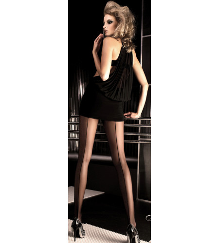 Collants noir couture - Lingerie
