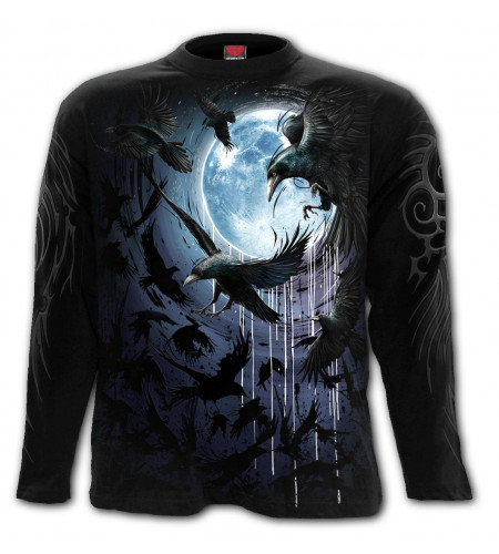 Crow moon - T-shirt dark - Corbeaux - Homme - Manches longues