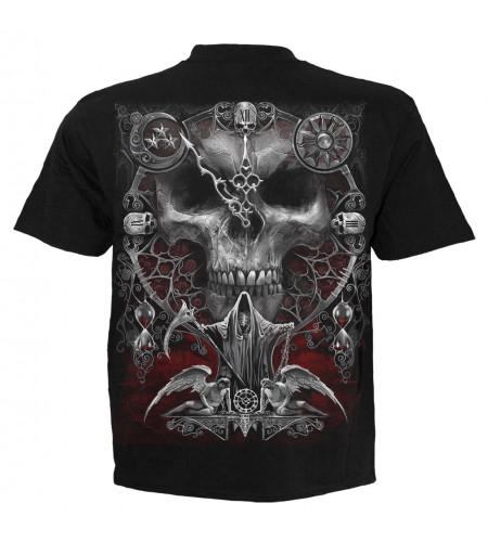 Boutique vente tee shirt motif crane squelette dark fantasy gothic