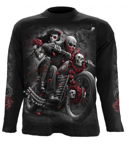 Boutique vente vetement motif biker dark fantasy manches longues homme moto motard