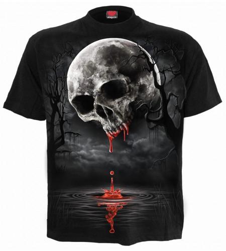 Death moon - T-shirt gothique - crane lune - Spiral