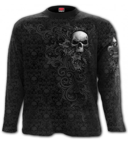 Skull scroll - T-shirt homme gothic - Manches longues - Spiral