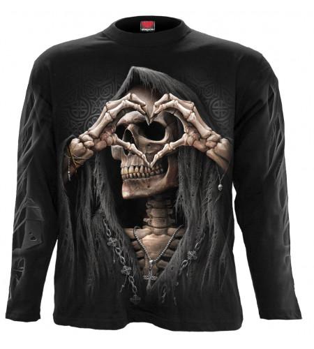 boutique vent vêtement dark fanatsy gothic tee shirt spiral dark love manches longues