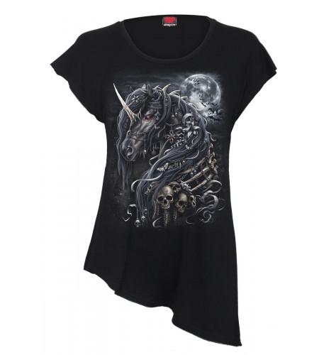 Dark unicorn - T-shirt femme gothic fantasy - Spiral