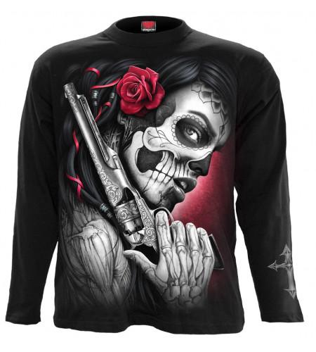Boutique vente tee shirt motif dark fantasy death pistol